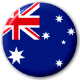 Australia Country Flag 25mm Pin Button Badge